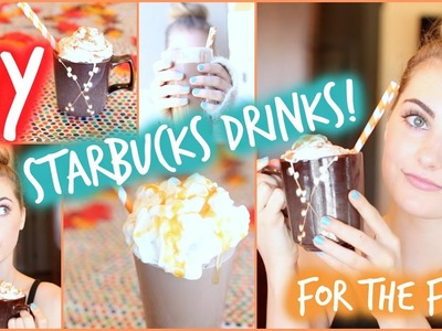 DIY Fall Starbucks Drinks: Pumpkin Spice & Salted Caramel!