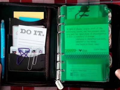 DIY Flyleaf for your planner  (Filofax.Day-Timer.Franklin Covey)