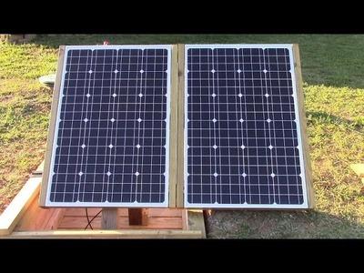Diy folding underground solar stand