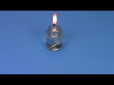 DIY glass oil lamp