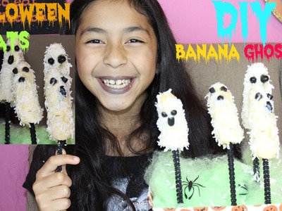 DIY Halloween Treats Banana Ghost Pops|DIY Sweet Treats|B2cutecupcakes