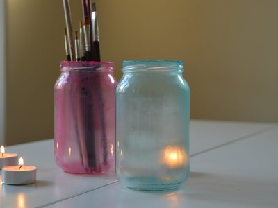 DIY: How to Colour Tint Glass Jars