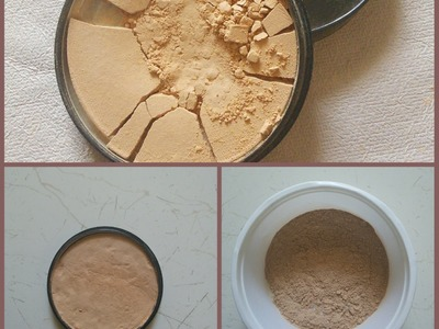 DIY: How to Fix Broken Compact Powder.Makeup With & Without Using Rubbing Alcohol
