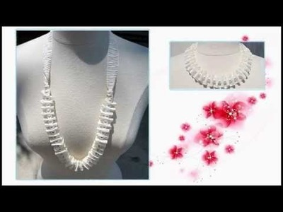 DIY : How to Make Ribbon-Pearl Accordeon Necklace - DIY Projects