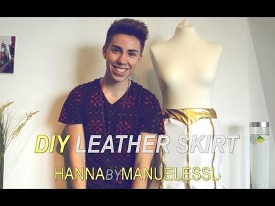 DIY Leather Skirt - HANNA BY MANUELESSL