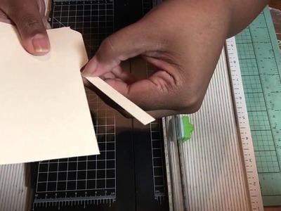 DIY -Mini file folder w.spine- envelop punch board TUTORIAL