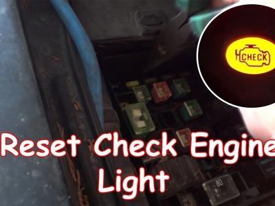 DIY: Reset Check Engine Light without OBDII reader