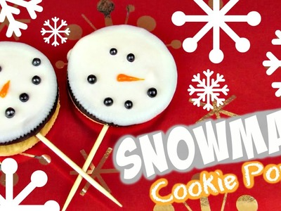 DIY Snowman Cookie Pops