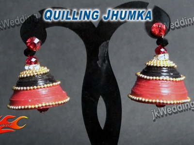 DIY Wedding Quilling Jhumka  | How to make | JK Wedding Craft 014