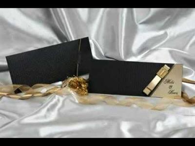Elegant and Luxury Wedding Invitations & RSVP Card DIY