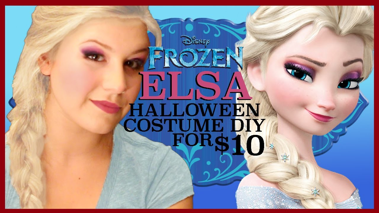 ELSA HALLOWEEN COSTUME DIY (for $10)