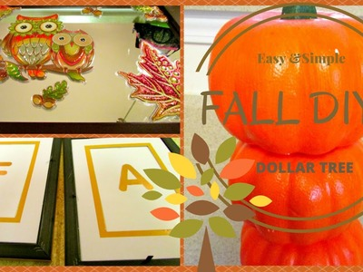 ~ FALL DOLLAR TREE DIY's On A BUDGET~ Simple & Easy