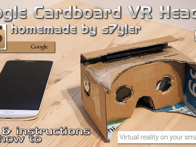 Google Cardboard VR Headset Homemade. DIY Virtual Reality