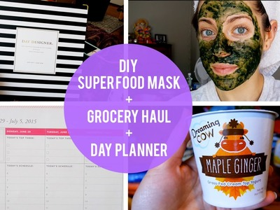 Grocery Haul, DIY Super Food Mask, & Day Planner Review