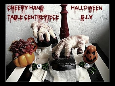 Halloween (hand table centerpiece) D.I.Y