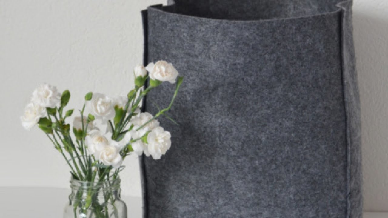 How To Assemble a Pretty Felt Tote Bag - DIY Style Tutorial - Guidecentral