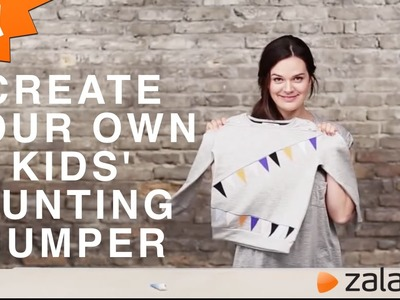 How to: Create your own Kids' Bunting Jumper - DIY tutorial by Zalando