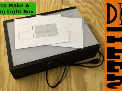 How to Make a DIY LED Tracing Light Box 020