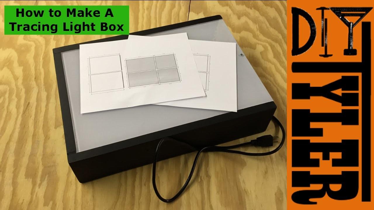 How to Make a DIY LED Tracing Light Box 020