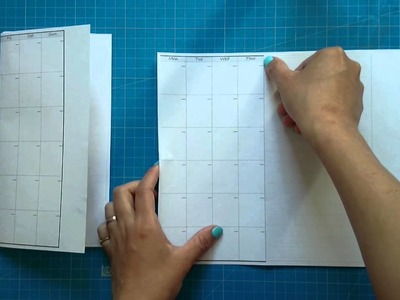 How to make.DIY the midori style calendar insert
