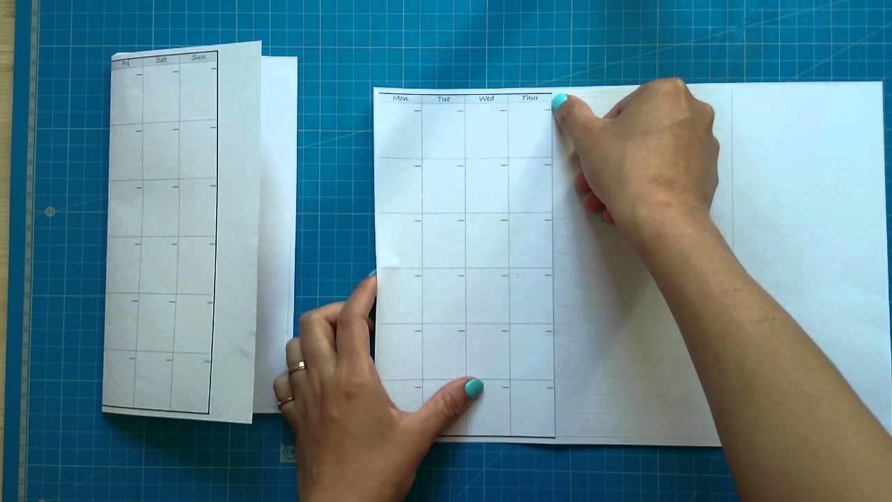 How to make.DIY the midori style calendar insert