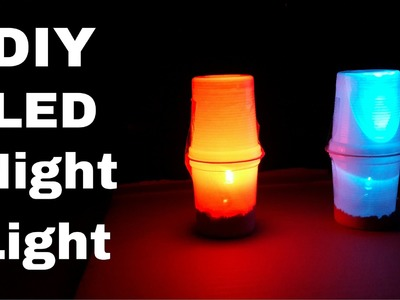 How to Make Simple LED Table.Night Lamp | DIY LED Night Light