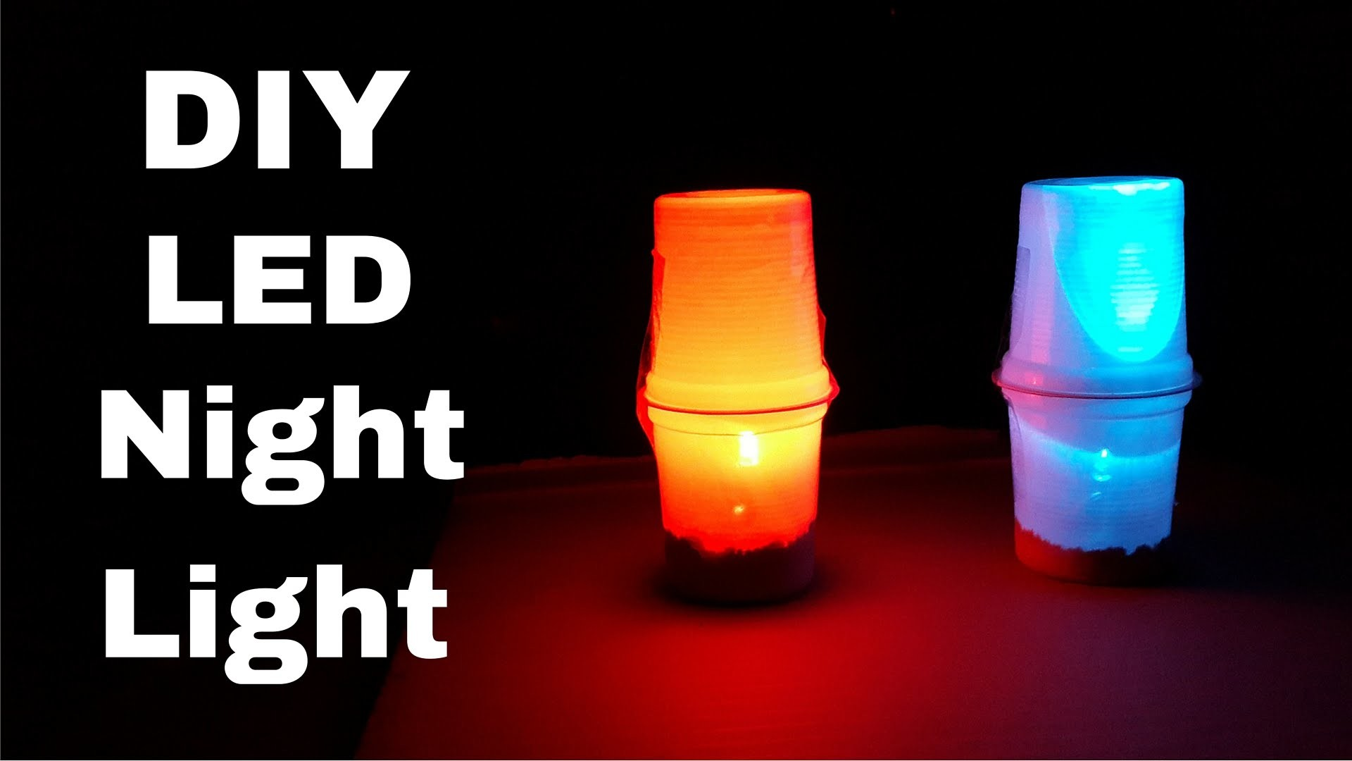 How to Make Simple LED Table.Night Lamp   DIY LED Night Light