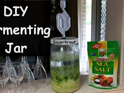 Lacto Fermentation Sauerkraut Using a Recycled Pickle Jar With DIY Air Lock