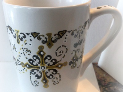 #lovefallart. DIY Doodle Mugs. how to paint a mug with glass paints