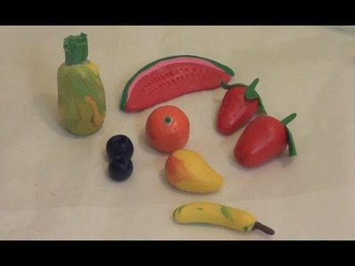 Make Fruits with Porcelain Clay. DIY.