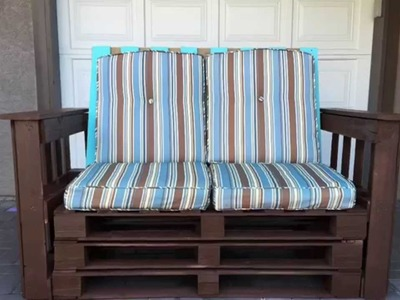 Make Your Own DIY Outdoor Pallet Couch