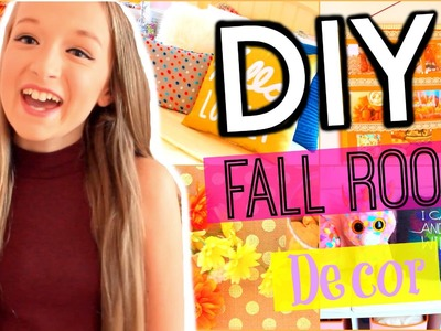 Make YOUR Room Look Cozy   DIY Fall Room Decor+ Organization Tips!
