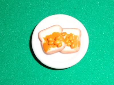 Miniature Beans on Toast - DIY LPS Crafts, Easy Doll Crafts & Dollhouse Accessories