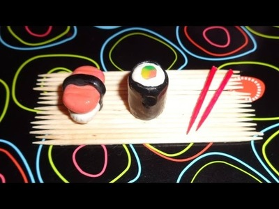 Miniature Sushi - DIY LPS Crafts, Easy Doll Crafts & Dollhouse Accessories