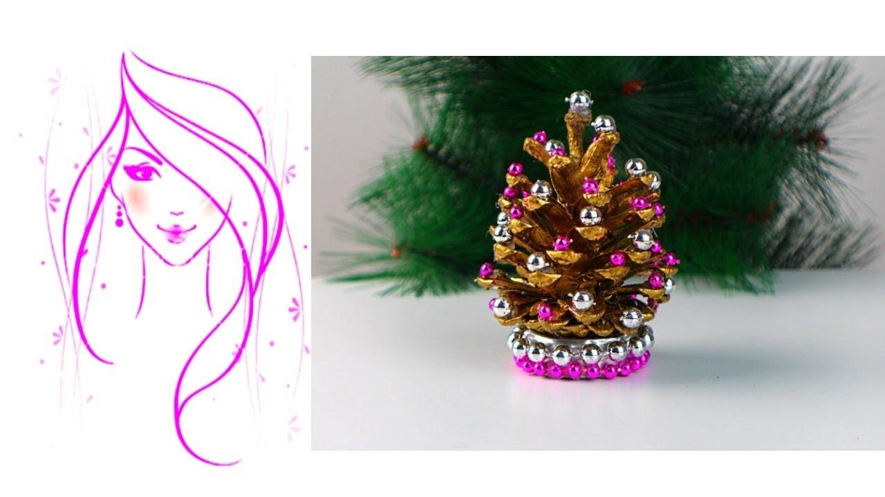 MORENA DIY: HOW TO MAKE PINE CONE CHRISTMAS TREES
