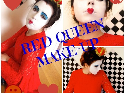 Queen of Hearts DIY Halloween Costume & Makeup