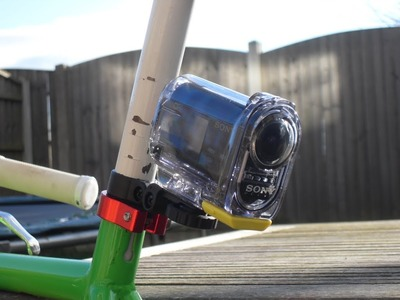 Sony Action Cam Bike Mount, Pole Mount, DIY for FREE!!