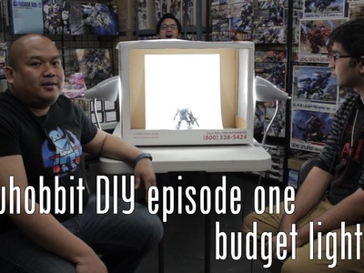 Tatsu Hobbit DIY Episode 1 - Budget Light Tent - Take better photos of your kits and toys