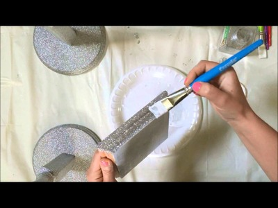 Tutorial how to apply glitter on wooden surfaces DIY