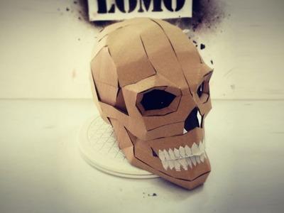 #108: Cardboard Human Skull DIY (Last Minute Halloween Build)