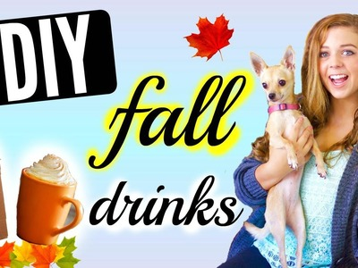 3 Easy DIY Fall Drinks! + GIVEAWAY!!