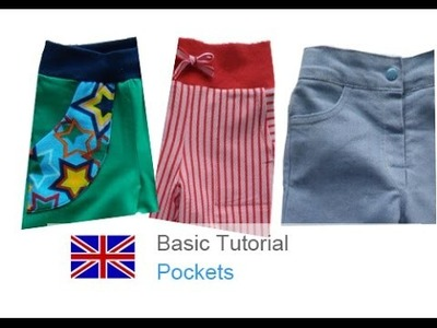 DIY basic sewing tutorial how to sew pockets, patched pockets, side pockets