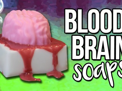 DIY BRAIN SOAP! ♥ Perfect Halloween Gifts!