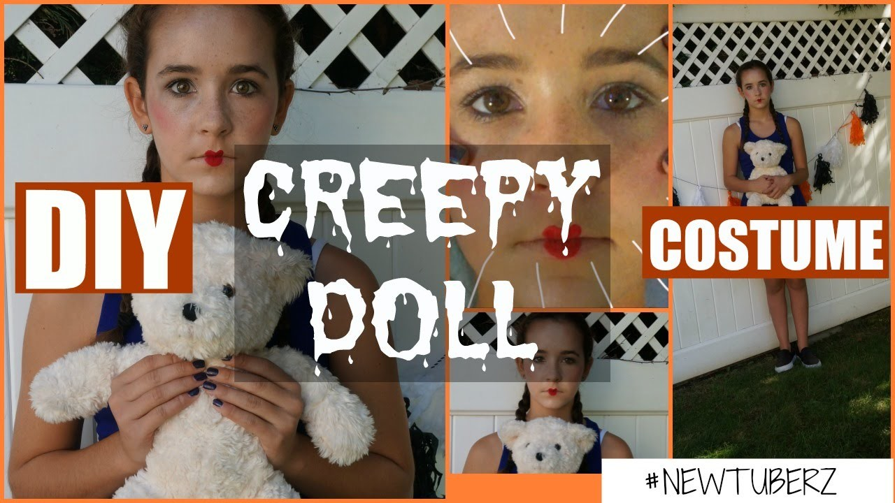 diy creepy doll halloween costume!, #newtuberz