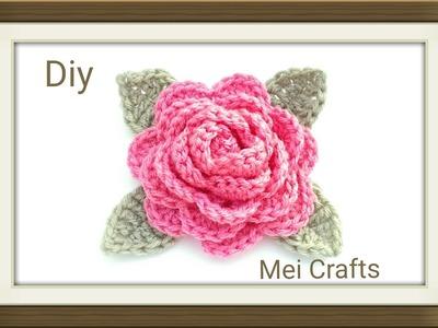 Diy: crochet a big flower