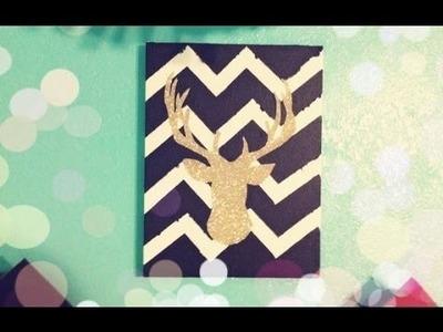DIY Deer Silhouette Canvas