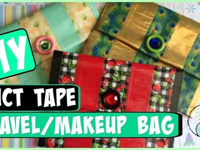 DIY: Duct Tape Travel.Makeup Bag! | CraftieAngie