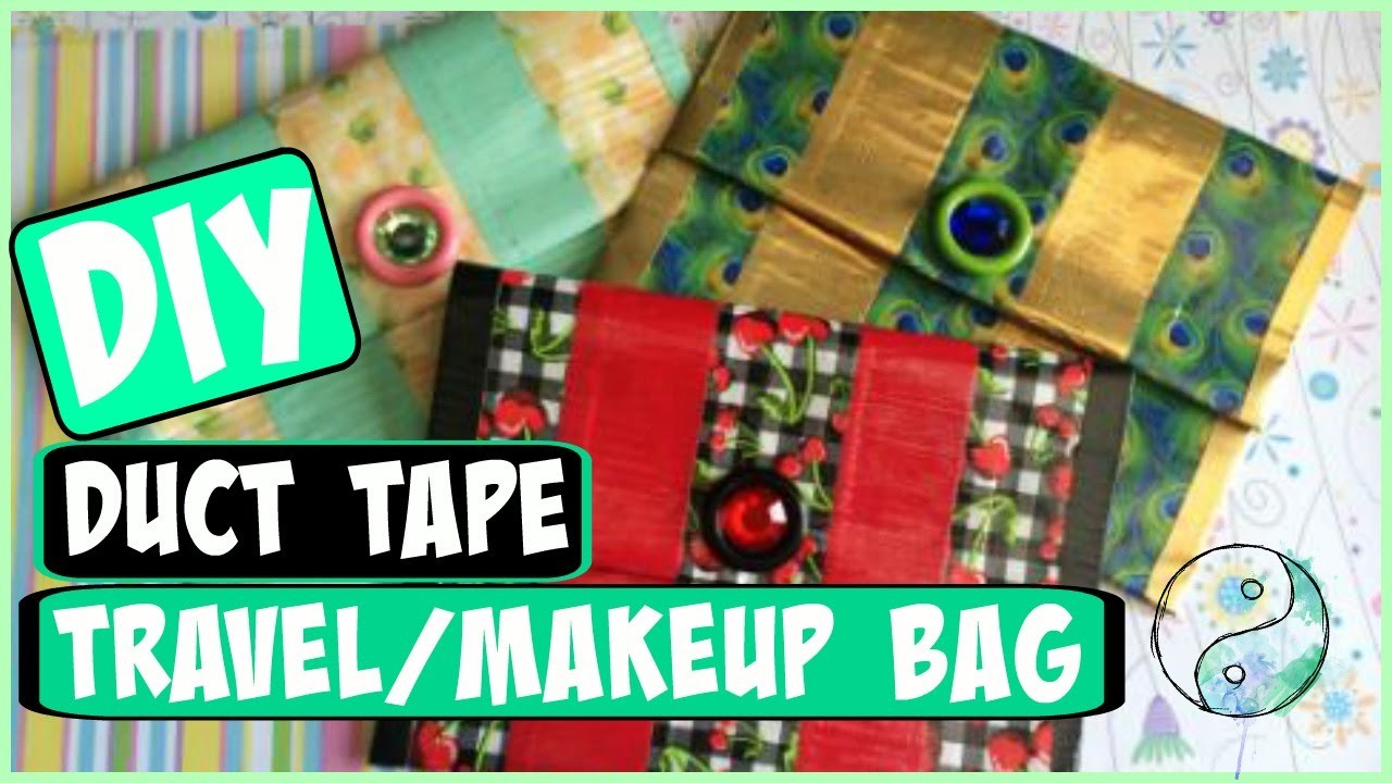 DIY: Duct Tape Travel.Makeup Bag! | CraftieAngie