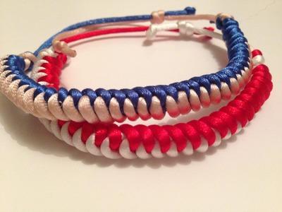 DIY Friendship Bracelet- HowTo Make a Snake Knot Bracelet