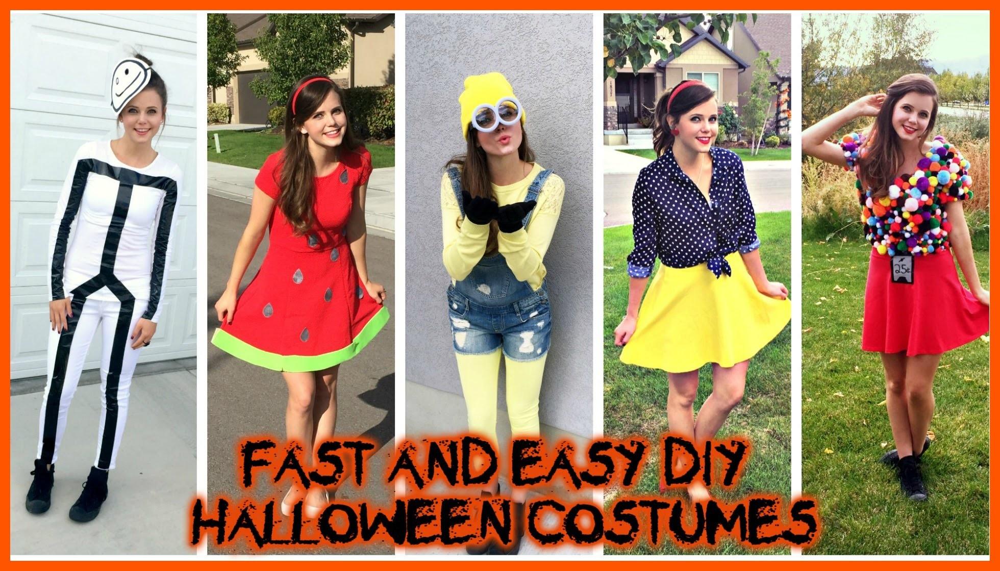 DIY HALLOWEEN COSTUMES Super Easy Cheap Last Minute Ideas! | Tiffany